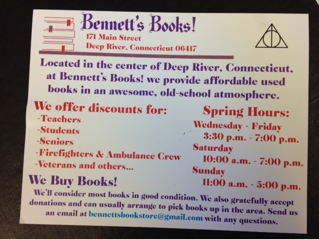 Bennett's Books, Deep River CT (2/2)