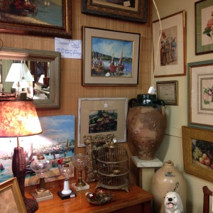 prints and paintings on the walls - Pawling Antiques