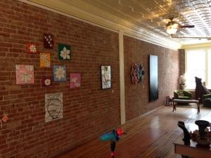 Brick wall gallery space - Three Graces Vintage