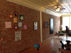 Brick wall gallery space - Three Graces Vintage